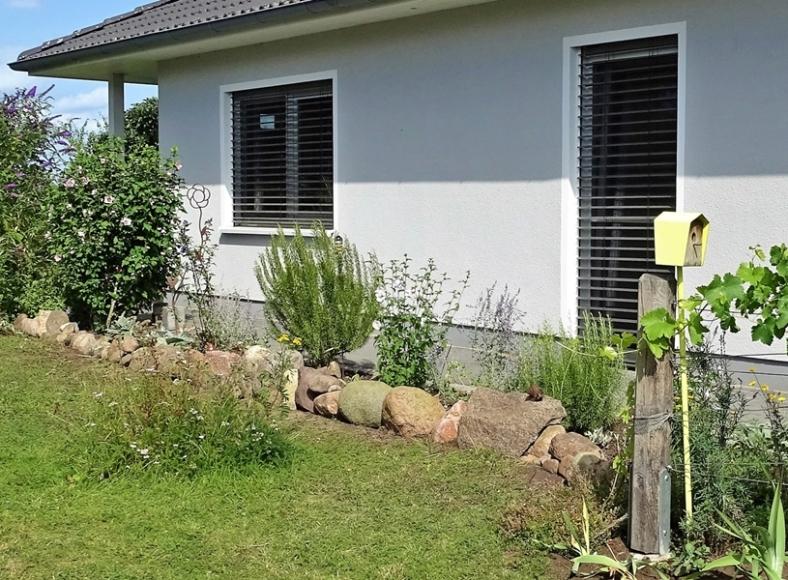 2019-08-11 LüchowSss Garten neues Beet vor der südlichen Hauswand (2)