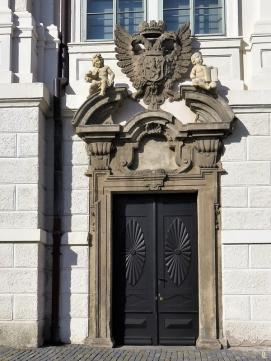 2019-10-13 Tschechien Kutná Hora Barborská (5) Portal am ehem. Jesuiten-Kolleg