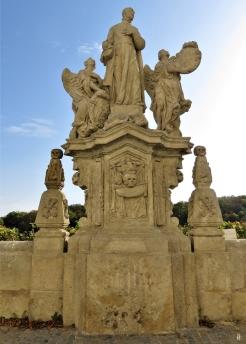 2019-10-13 Tschechien Kutná Hora Barborská (7) Skulpturengruppe des Hl. Wenzel