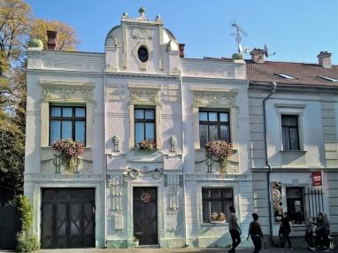 2019-10-13 Tschechien Kutná Hora, Sedlec Zámecká (1) Jugendstil-Haus v. 1904