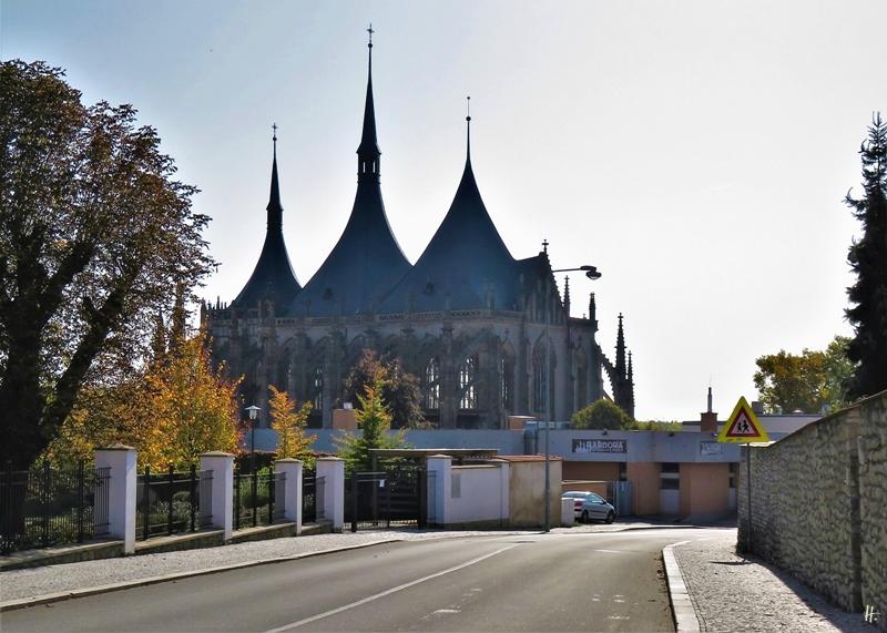 2019-10-13 Tschechien Kutná Hora St. Barbara-Kathedrale (1) Kremnická