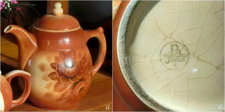 2021-01-27 LüchowSss gr. Bunzlauer Kaffeekanne (mit Spritz-u. Blumendekor Rose) +gestempelter Unterseite (1x2)