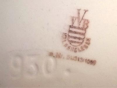 2019-01-26 Servierplatte VVB Haldensleben Rückseite mit Marke