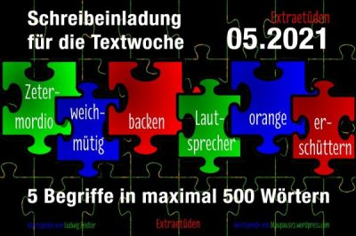 2021-01-31 Extra-Etüden TW 05-2021 Schreibeinladung für die Textwoche 05.21 | Extraetüden | Irgendwas ist immer