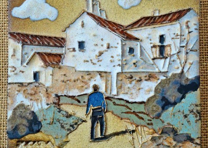 2021-02-02 LüchowSss handgem. Keramikbild v. Xavier Caba (1928-1996 Castellar de Vallès)