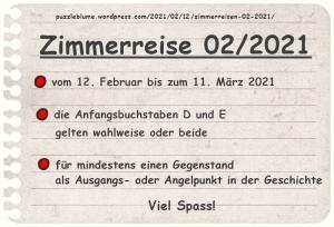 Einladung zu den Zimmerreisen02/2021