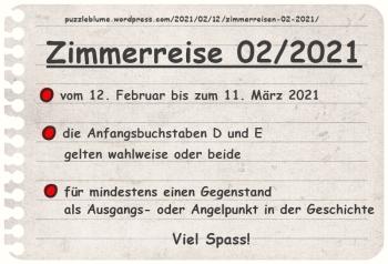 Einladung zu den Zimmerreisen 02/2021 | Veröffentlicht am 2021/02/12 von puzzleblume