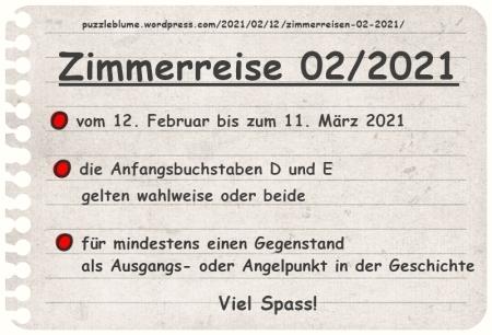 Einladung zu den Zimmerreisen 02/2021   Veröffentlicht am 2021/02/12 von puzzleblume