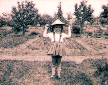 Ich - mit 'Kuli-Hut', ca. 1962