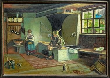 2021-05-24 Zimmerreise Küchenszene J. Förstl (mit kl. Katze)